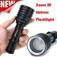 UV CR-1706 Zoomable IR 850nm Flashlight Night Vision Infrared Torch Light