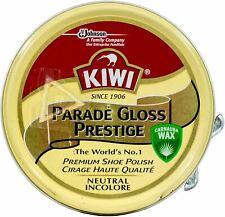 Kiwi Shoe Polish Parade Gloss Prestige Tin Shiner Leather Protector Boot NEUTRAL