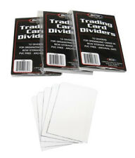 (3) BCW TCD 10 Packs White Trading Card Divider Cards Separators MTG Sports CCG