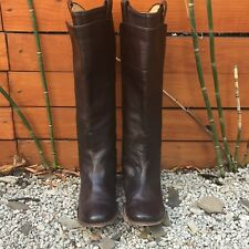 "Women's 7B FRYE ""PAIGE"" 77534 Brown Leather Tall Riding/Knee High Boots"