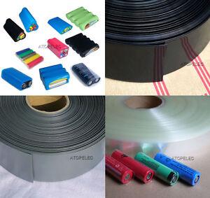 2M PVC Heat Shrink Tubing Tube Wrap Lipo Li-ion RC Battery Pack 17MM-103MM Wide