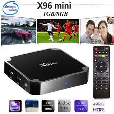 X96 mini SMART Android 7.1 TV Box 1GB+8GB WiFi 4K 3D HD Quad Core Media Player