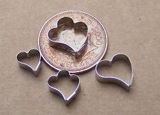 Set Of 4 Fern Leaf Clay Cutters Dolls House Miniature Sugarcraft Accessory