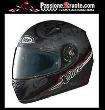 Casco integrale fibra moto helmet casque  X-lite XLITE X-602 decò nero opaco