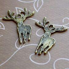 Antique bronze charm deer, raindeer – pack de 15