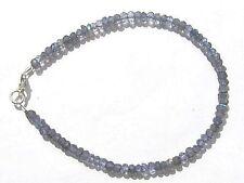 Iolith facett. Armband 925 Silber 20,5 cm  3030