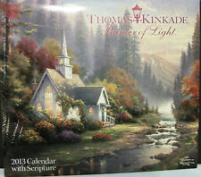 NEW 2013 THOMAS KINKADE Lg Wall Calendar Scripture Painter of Light Bible Verses
