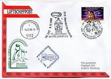 1996 Luftschiffpost n. 14 Pro Juventute Dirigibile OE-ZHZ Lamprechtshausen ONU