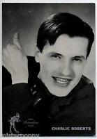 CHARLIE ROBERTS Cartolina d'epoca 1960s Photo Music Cantante