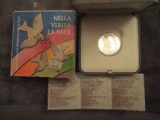 Vaticano 2006 ARGENTO moneta da 5 euro, papa Benedict XVI in originale astuccio U. CERT