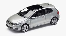 GENUINE VW GOLF MK7 2 DOOR TUNGSTEN SILVER METALLIC 1:43 SCALE DIECAST MODEL CAR