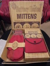 Vintage Burnham Battery Heated Mitten Set In The Original Box