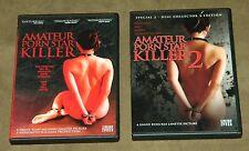 Amateur Porn Star Killer 1 and 2 DVD Lot Shane Ryan exploitation nudity