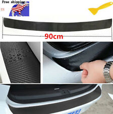 Car Accessories Carbon Fiber Auto Rear Trunk Tail Lip Protect Decal 4D Sticker