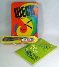 "Weck ""Original Hair Shaper"" Kit Tool Book Barber Stylist Mod MCM Primary Colors"