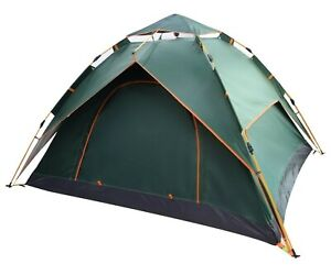 3 Personen Vollautomatisches Doppelwandiges Campingzelt Kuppelzelt 220x190x140cm