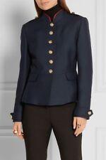 BURBERRY Regimental Twill Military Jacket | Navy Blue | 38 | 4