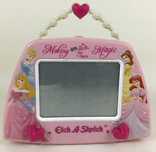 Disney Princess Making My Own Magic Etch A Sketch Carry Along Pink Heart Toy