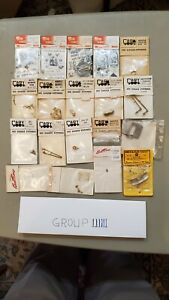 BRASS HO SCALE DETAIL & OTHER  PARTS 20 PCS NEW OLD STOCK LOT 6