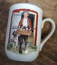 "New ListingVintage01985 Norman Rockwell Museum Mug ""Puppy Love"""
