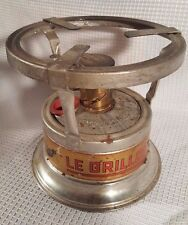 Vintage Le Grillon Alcohol Camping Stove Heater ALG Made in France