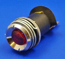 MG TA TB TC TD Dash PANEL 38054 ROSSA spia di accensione & Lampadina cromo lunetta