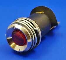 MG TA TB Tc Td Dash Panel 38054 Rojo Encendido Luz De Advertencia & Bombilla Bisel Cromado