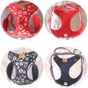 Pet Harness Leash Mesh Strap Dog Breathable & Adjustable Vest (Jeans Style)