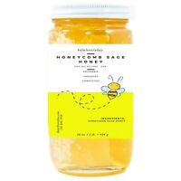 Honeycomb Sage Honey - 100% Pure & Natural Raw Uncooked Unprocessed Unfiltered
