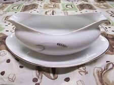 Amway Fine China 5748 Gravy Boat Gold Leaf Trim Wheat Pattern Porcelain Japan
