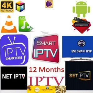 IP-TV Abonnement 12 Mois, M3U, SMART TV, Box TV, Android, PC, 4K