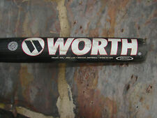 EUC Worth 3DX Softball Bat 34/29 Adult Slowpitch Composite Shell Aluminum Shaft