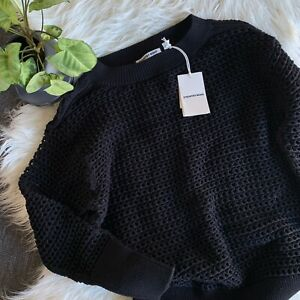 COUNTRY ROAD -  NEW! SZ S oversized mesh knit - black 10 [CR LOVE]