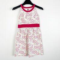 Tea Collection Girls Tank Top Summer Dress White Pink Floral Sz 6