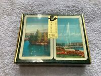 Muller & Cie Unopened vintage double deck of playing cards. Switzerland Bridge