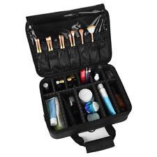 3 Layer Makeup Train Case Organizer Bag With Shoulder Strap Adjustable Dividers3