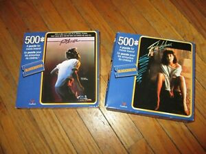 FOOTLOOSE & FLASHDANCE JIGSAW PUZZLES Retro 1980s Movies 500 Pieces Blockbuster