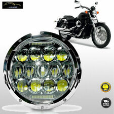 "7""inch Round LED Headlight 75W For Honda Shadow Aero Phantom VLX VT750 VT1100"