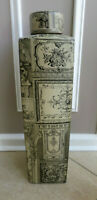 "Classic Ceramic Stoneware ART Vase with Lid 20"" Tall"