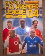 2004 Merlin F.A. Premier League Autógrafo edición álbum completo de la etiqueta engomada