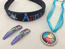Girl's items Frozen theme Anna isicle headband Anna ribbon necklace clips gift