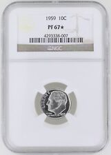 1959 Proof Roosevelt Silver Dime 10C NGC PF67* Star