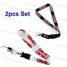 2PCS For GMC Racing NYLON DOUBLE SIDE Lanyard Neck Strap KeyChain Quick Release