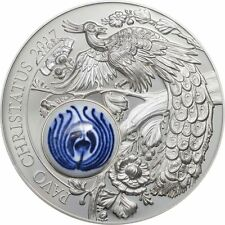 10 $2017 Cook Islands-Royal Delft-pavo real-pavo christatus-smartminting 2 Oz