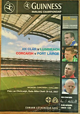 2007 GAA CLARE v LIMERICK & CORK v WATERFORD All-Ire Hurling Q-Final Programme