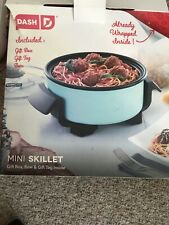 """DASH 8"""" Electric Mini Skillet W/Lid. White. New Shipping In Brown Box"""