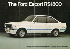 Ford escort rs 1800 Mk2 1975-76 marché du royaume-uni rabattable sales brochure