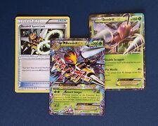 Pokemon TCG XY PROMO - Mega M Beedrill Ex Holo Card Set/Bundle (157,158 and 159)