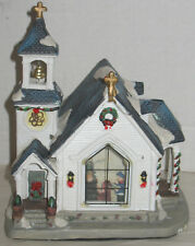 Vintage Porcelain Church Christmas Village House Comes with Electric Light