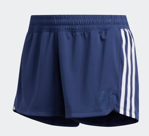 Adidas Shorts Womens Blue AeroReady Pacer Knit Training 3 Inch Slim Large or XL